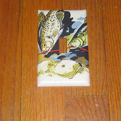 TROPHY CRAPPIE crappies WILD GAME FISH LIGHT SWITCH COVER PLATE
