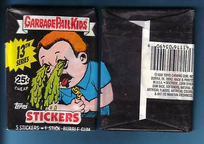 1988 Garbage Pail Kids Original Series 13 Wax Pack  (x1) from box!