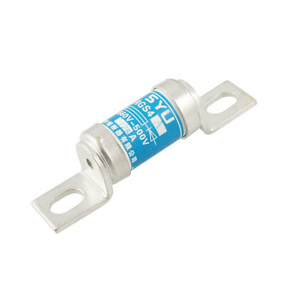 660V 125A Blue Cylindrical Ceramic Overload Protection Fast Blow Fuse Link