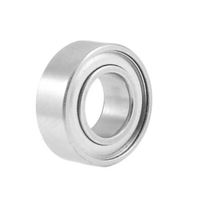 14mm x 7mm x 5mm Shielded Deep Groove Radial Ball Bearing Silver Tone