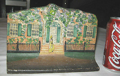 Antique Eastern Specialty Mfg Co Cast Iron House Home Cottage Cast Iron Doorstop