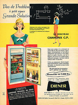 Just A 2 Pages Publicité Advertising 1959 Refrigerateurs Machines à Laver Diener