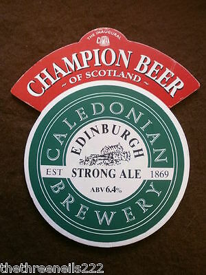 Beer Pump Clip - Caledonian Edinburgh Strong Ale - Champion Beer Of Scotland