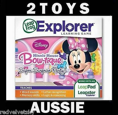 LeapPad 1 2 3, ULTRA, LEAPSTER GS & EXPLORER ~ MINNIE MOUSE Bow-tique Game