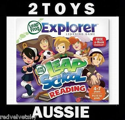 LeapPad 1 2 3, ULTRA, LEAPSTER GS & EXPLORER ~ LEAP SCHOOL READING Game NEW