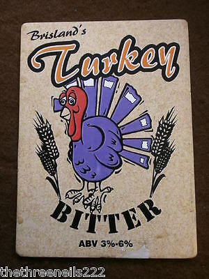 Beer Pump Clip - Brisland's Turkey Bitter