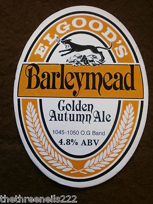 Beer Pump Clip - Elgood's Barleymead Golden Autumn Ale