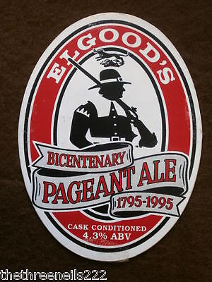 Beer Pump Clip - Elgood's Bicentenary Pageant Ale 1795-1995