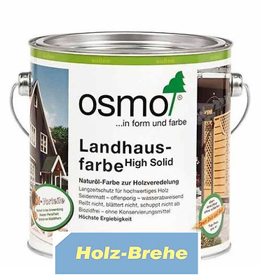 2,5l 27€/L - 0,75l31€/L - 5ml8€/10ml  Osmo Landhausfarbe high solid 0,75L 2,5L