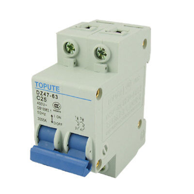 25A Rated Current Double Pole MCB Mini Circuit Breaker