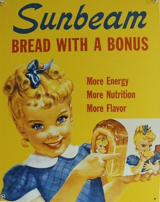 Sunbeam Bread Vintage Styled Advertisement Tin Metal Sign Ad Grocery Kitchen F10
