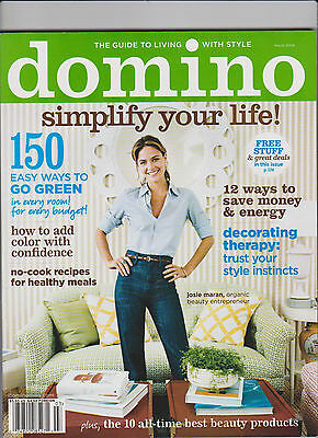 Domino March 2008 Guide To Living With Style - Simplify Your Life! - Josie Moran
