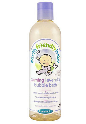 Earth Friendly Baby Calming Lavender Bubble Bath 300ml Mild and Gentle