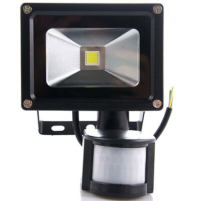 X1 Energy 10w LED Floodlight in Grey/Black, With/without PIR, Cool or Warm White