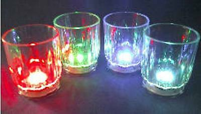 12 Blinking Shot Glasses with Multi Color Flashing LEDs Lights Barware Supply