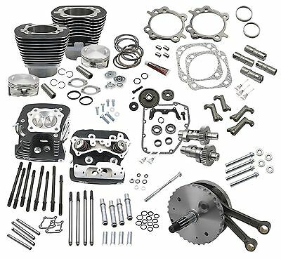 S&S Cycle 124in. Hot Set Up Kits with Heads  900-0564*