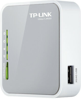 TP-LINK TL-MR3020 3G/4G PORTABLE Wireless N Router 150Mbps NBN Ready (F13)