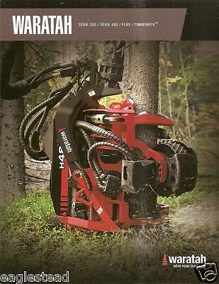 Equipment Brochure - Waratah - Harvesting Head Logging - French - c2009 (E2094)