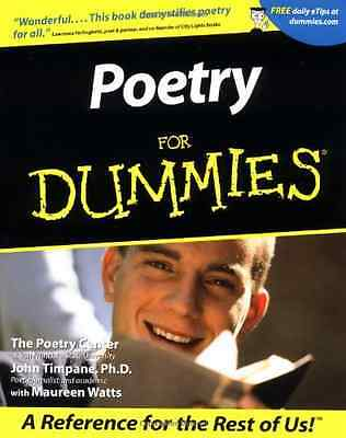 Poetry For Dummies - Paperback NEW Center, The Poe 2001-05-01