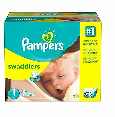 Pampers Swaddlers Diapers Economy Pack Choose Your Size 80231030 - New Item