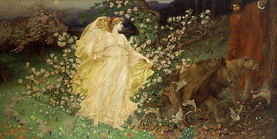 Venus and Anchises William Blake Richmond Mythologie Götter Löwen B A3 03483