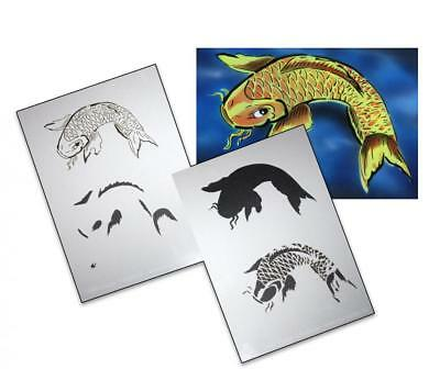 Step by Step Airbrush Schablone AS-005 ~ Tattoo Stencil ~ UMR-Design