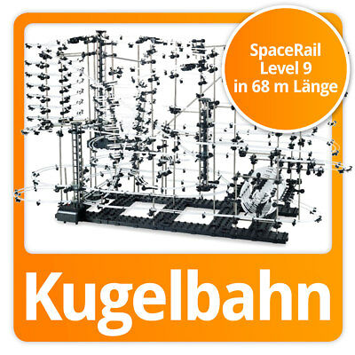 SpaceRail Kugelbahn moderne Space Rail Murmelbahn Spacewarp Level 9 (68 Meter)