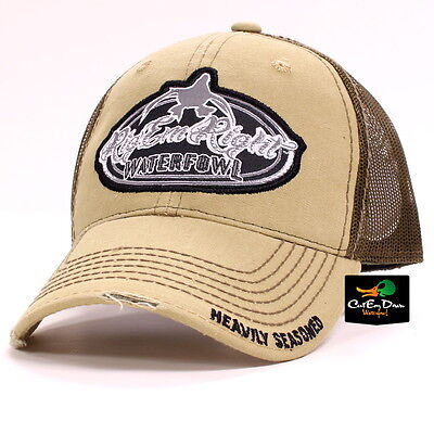 RIG  EM RIGHT Waterfowl New Bill Vintage Old School Camo And Brown ... 14b53638b007