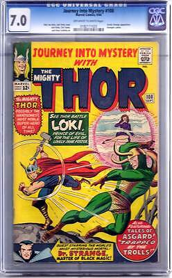 Journey into Mystery # 108 Kirby Thor CGC 7.0 - movie scarce hot book !!