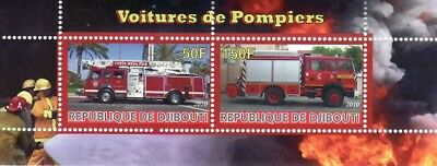Fire Engines -  Sheet of 2 Stamps  - SV0623
