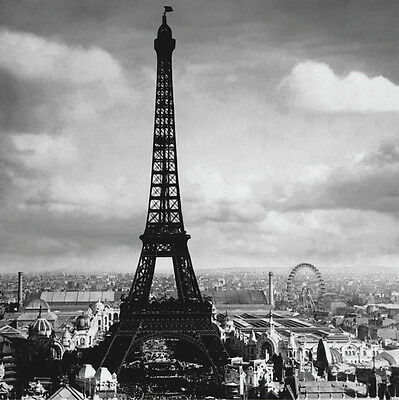 PHOTO ART PRINT The EIFFEL TOWER Paris France 1897 by Tavin 12x12 French Poster