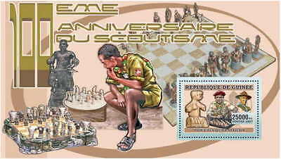 Guinea - Scouting & Chess on Stamps -  Stamp Souvenir Sheet 7B-074
