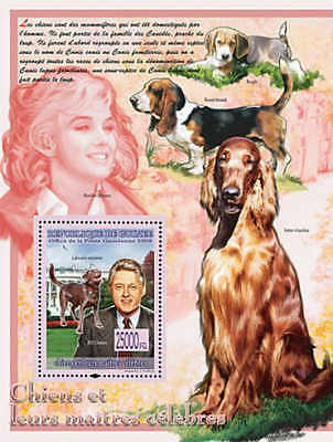 Guinea - 2008 Dogs & Masters, Clinton, Marilyn  Stamp Sheet 7B-719