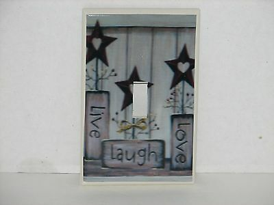 Primitive Country Live Laugh Love Single toggle switch plate light cover