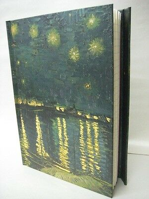 Vincent Van Gogh Starry Night Over the Rhone Lined Blank Journal 8.5 x 6 NEW