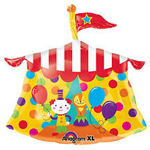 CIRCUS Carnival Big Top Tent Clowns Birthday Party Balloon