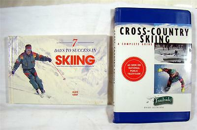 SKIING - 2 Books - 7 Days to Success - Leaf & Cross-Country Skiing - Cazeneuve