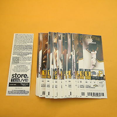 2011 Pittsburgh Pirates Home Season Ticket Lot of 66 Different Games