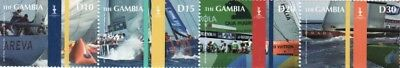 Gambia - America's Cup - 4 Stamp Mint Strip - GAM0724