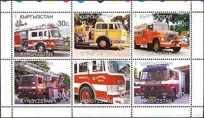 Fire Engines -  Sheet of 6 Stamps  - 11A-047