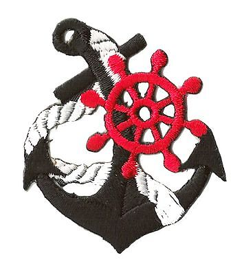 Ecusson brodé patche Marine Navy Ancre thermocollant / patch 1230