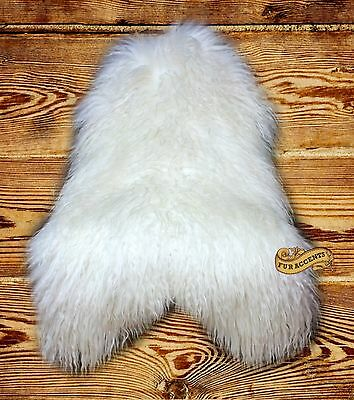 Fur Accents Mongolian Sheepskin Area Rug Long Hair Throw Faux 5 Colors