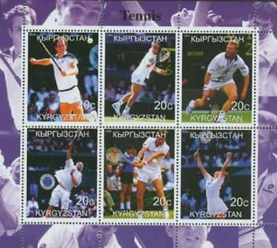 2000 Tennis Pros McEnroe, Connors, Agassi - 6 Stamp  Sheet 11A-103