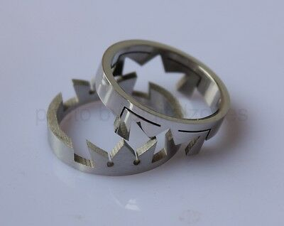 Kingdom Hearts Crown Stainless Steel Love Lover Rings Double Pair Cosplay Anime
