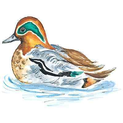 Teal Duck Select-A-Size Ceramic Waterslide Decals Tx