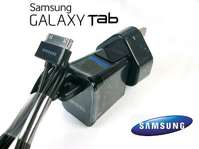 """New Official Samsung UK Wall Charger for Galaxy Tablet 10.1"""" 8.9"""" 7"""" Tab 2 Black"""