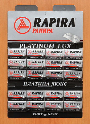 100 New Platinum Lux Rapira Double Edge Safety Razor Blades+ Free Gift!