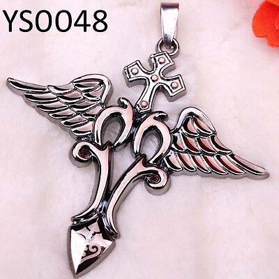 2013 Highest Quality Wing & loving Cross Free Ship Popular Alloy Pendant YS0048