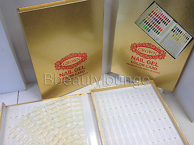212 Tip Gold Nail Colour Chart Display Book Fop UV/LED Gel Polish BUY 2 = GIFT!