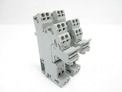 Lot of 2 Wago 788-100 Relay Socket, 230VAC IN, 250VAC/2x8A OUT